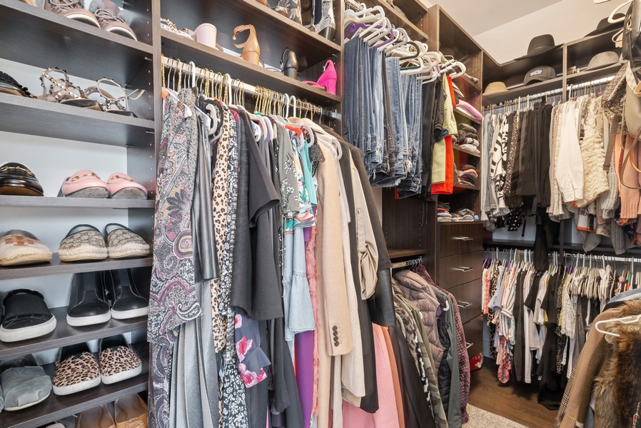 Real Estate Photography - 3645 N Damen Ave #3, Chicago, IL, 60618 - Master Bedroom Closet