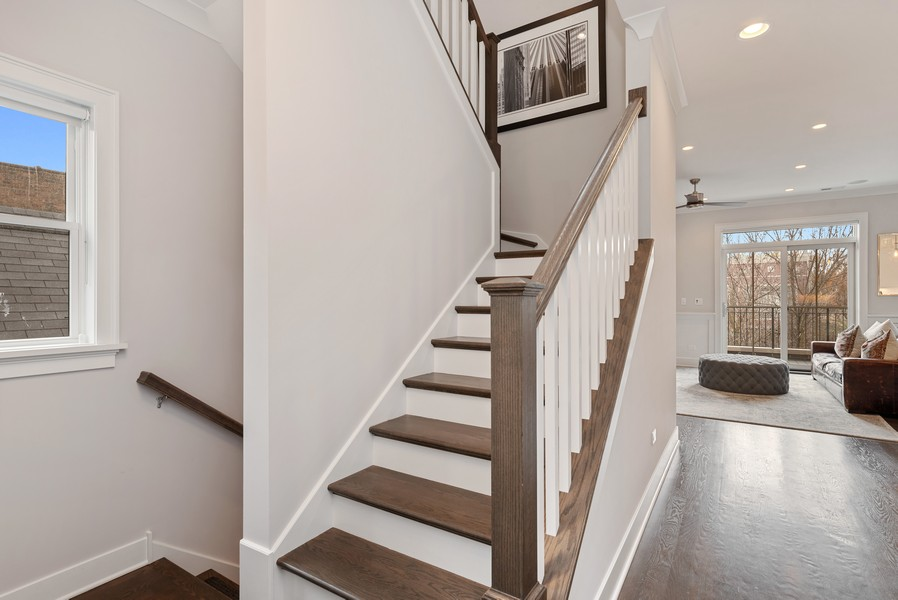 Real Estate Photography - 3645 N Damen Ave #3, Chicago, IL, 60618 - Staircase