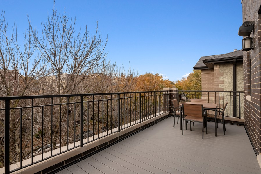 Real Estate Photography - 3645 N Damen Ave #3, Chicago, IL, 60618 - Main Level Terrace