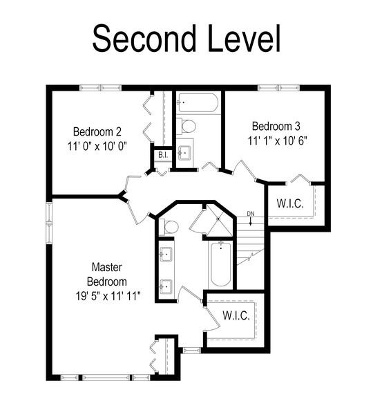 Real Estate Photography - 2100 Brandywyn Ln, Buffalo Grove, IL, 60089 - Floor Plan