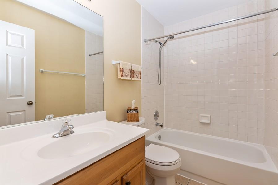 Real Estate Photography - 2100 Brandywyn Ln, Buffalo Grove, IL, 60089 - 2nd Bathroom