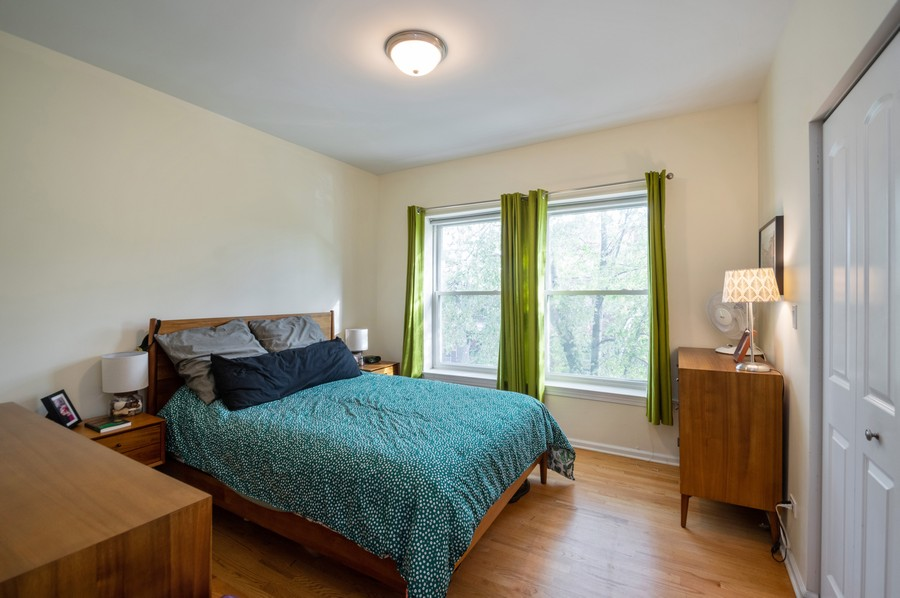 Real Estate Photography - 3100 W Leland, #201, Chicago, IL, 60625 - Master Bedroom