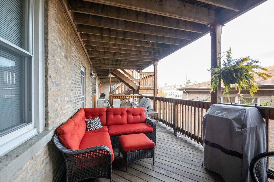 Real Estate Photography - 3100 W Leland, #201, Chicago, IL, 60625 - Deck