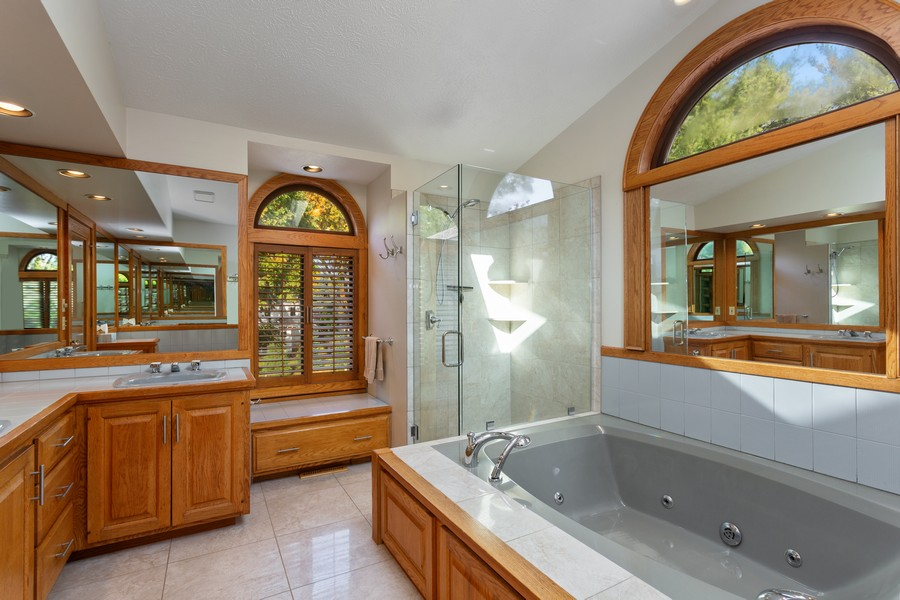 Real Estate Photography - 4409 Winding Lane, Stevensville, MI, 49127 - Master Bathroom
