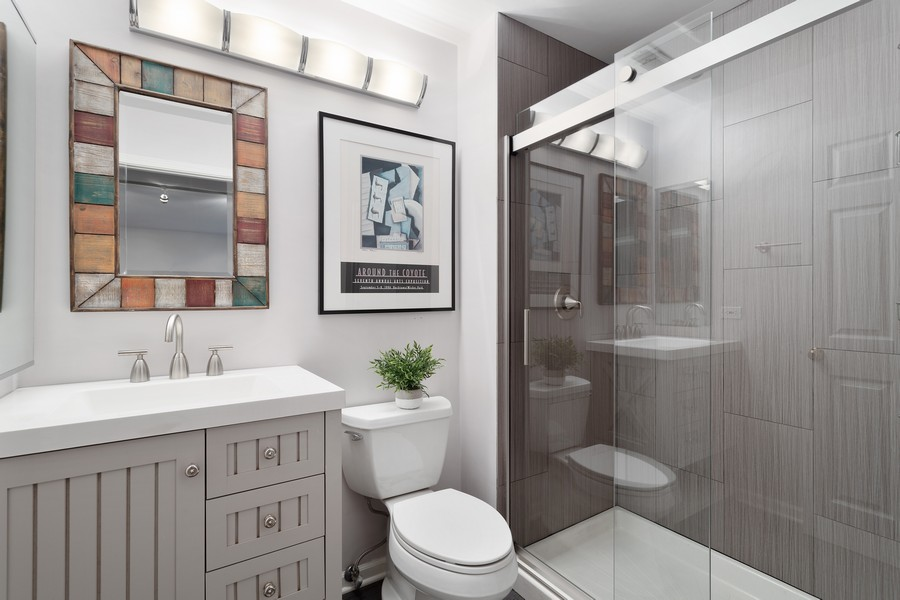 Real Estate Photography - 1842 N Halsted Street, Unit 1, Chicago, IL, 60614 - Lower Level - 3rd Bathroom