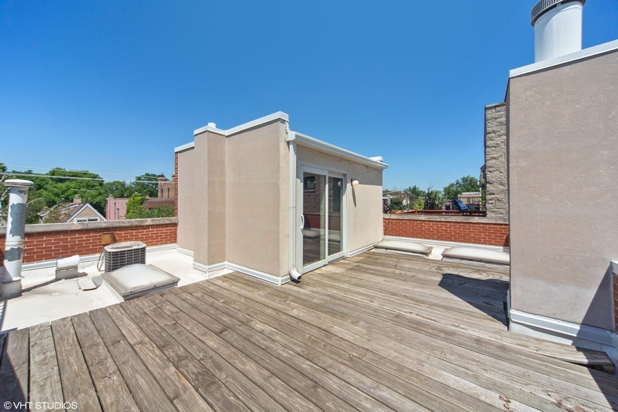 Real Estate Photography - 1842 N Halsted Street, Unit 1, Chicago, IL, 60614 - 3rd Floor Roof Deck
