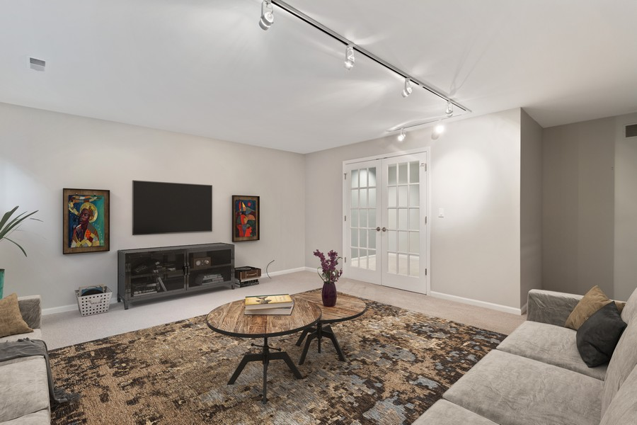 Real Estate Photography - 1842 N Halsted Street, Unit 1, Chicago, IL, 60614 - Lower Level Family Room