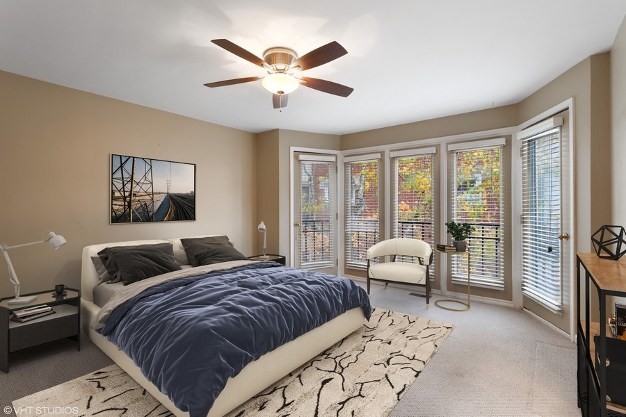 Real Estate Photography - 1842 N Halsted Street, Unit 1, Chicago, IL, 60614 - Master Bedroom