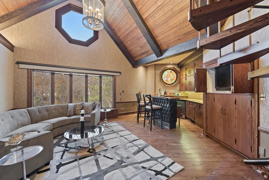 Real Estate Photography - 124 Dell Place, Glencoe, IL, 60022 - Family Room