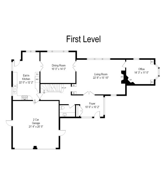 Real Estate Photography - 124 Dell Place, Glencoe, IL, 60022 - Floor Plan