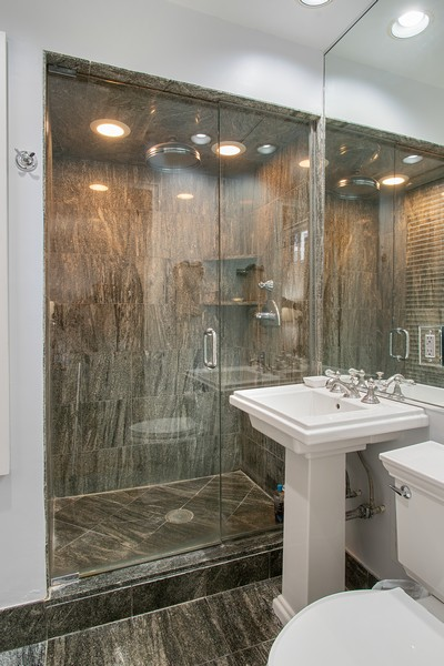 Real Estate Photography - 237 E. Delaware, Apt.2A, Chicago, IL, 60611 - His & Her Master Bath 1
