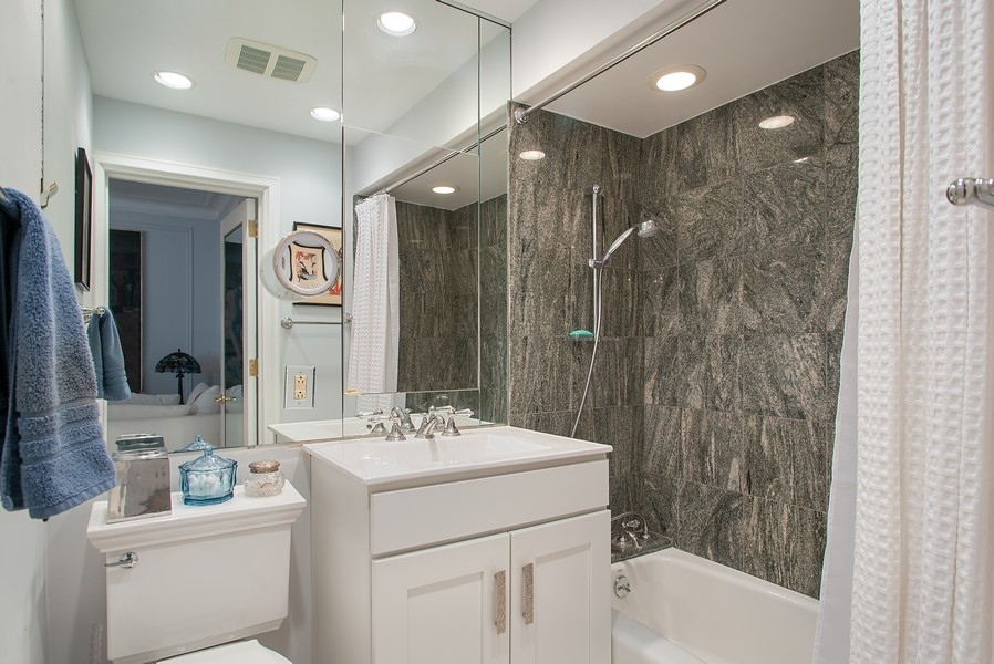 Real Estate Photography - 237 E. Delaware, Apt.2A, Chicago, IL, 60611 - His & Her Master Bathroom 2