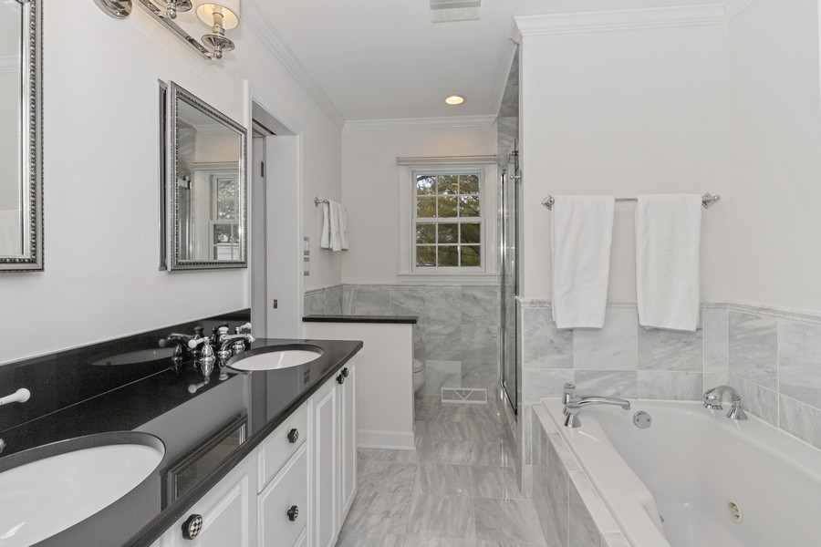 Real Estate Photography - 310 Green Bay Road, Lake Bluff, IL, 60044 - Master Bathroom