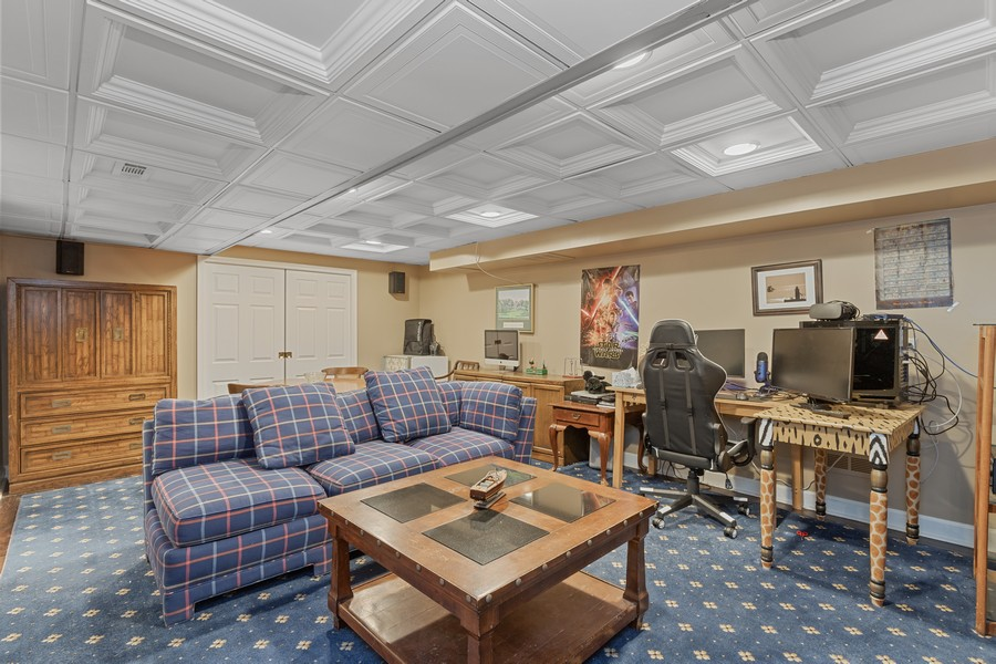Real Estate Photography - 310 Green Bay Road, Lake Bluff, IL, 60044 - Media Room