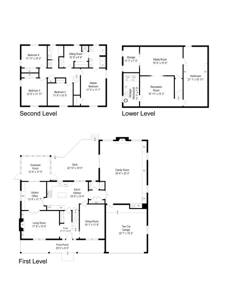 Real Estate Photography - 310 Green Bay Road, Lake Bluff, IL, 60044 - Floor Plan