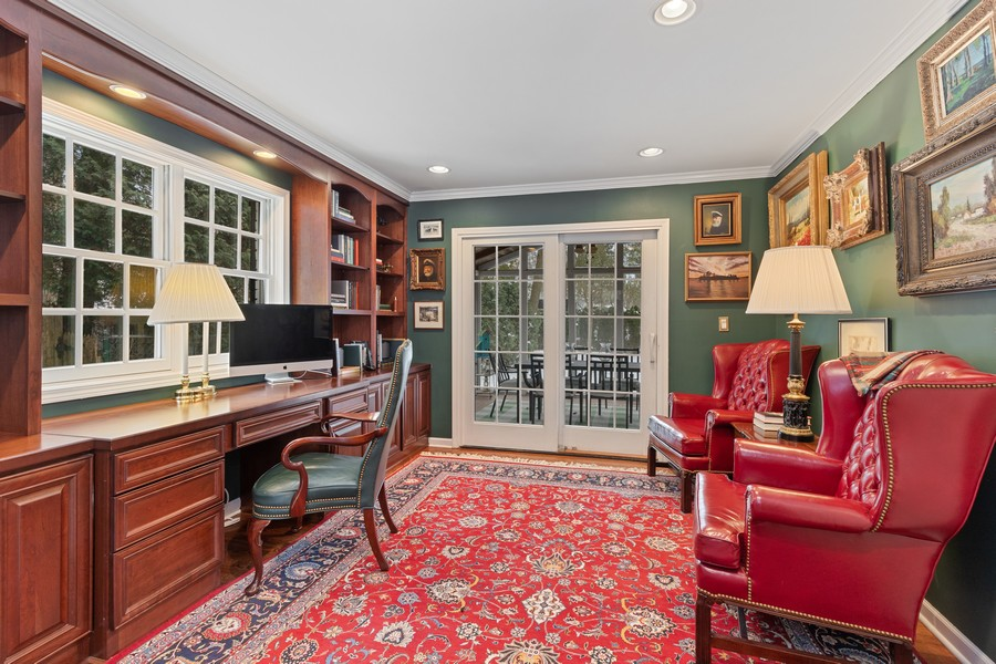 Real Estate Photography - 310 Green Bay Road, Lake Bluff, IL, 60044 - Library/Office