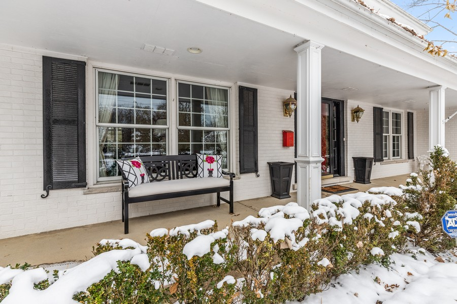 Real Estate Photography - 310 Green Bay Road, Lake Bluff, IL, 60044 - Front Porch