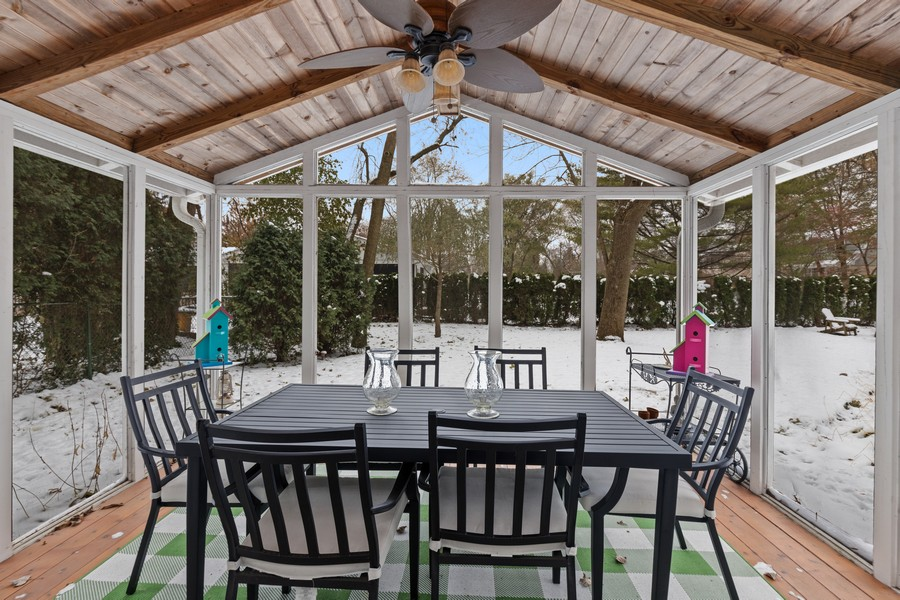 Real Estate Photography - 310 Green Bay Road, Lake Bluff, IL, 60044 - Screened Porch