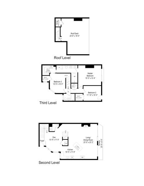 Real Estate Photography - 2736 N Hampden Court, 201, Chicago, IL, 60614 - Floor Plan