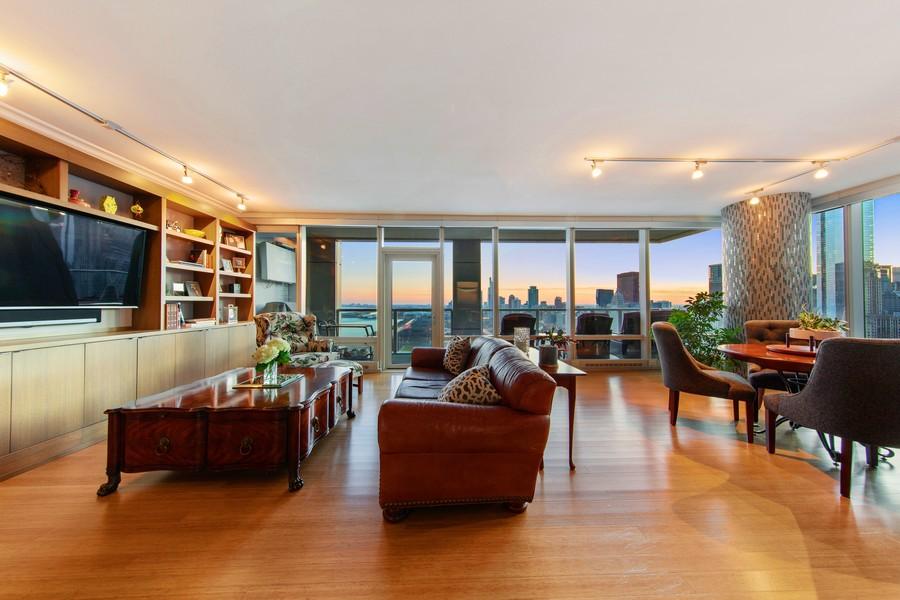 Real Estate Photography - 340 E Randolph St, Unit 2706, Chicago, IL, 60601 - Living Room