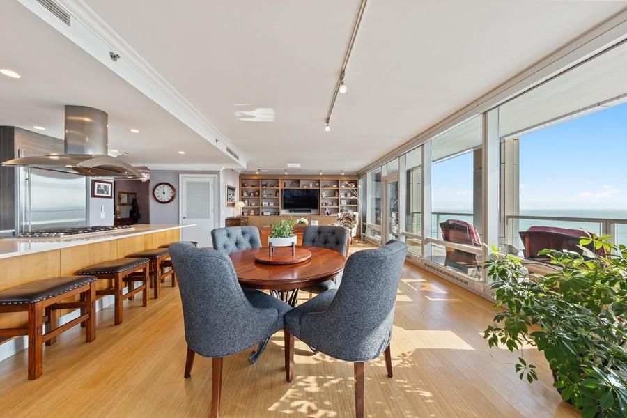 Real Estate Photography - 340 E Randolph St, Unit 2706, Chicago, IL, 60601 - Dining Area