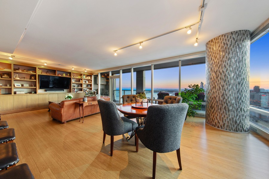 Real Estate Photography - 340 E Randolph St, Unit 2706, Chicago, IL, 60601 - Dining Room