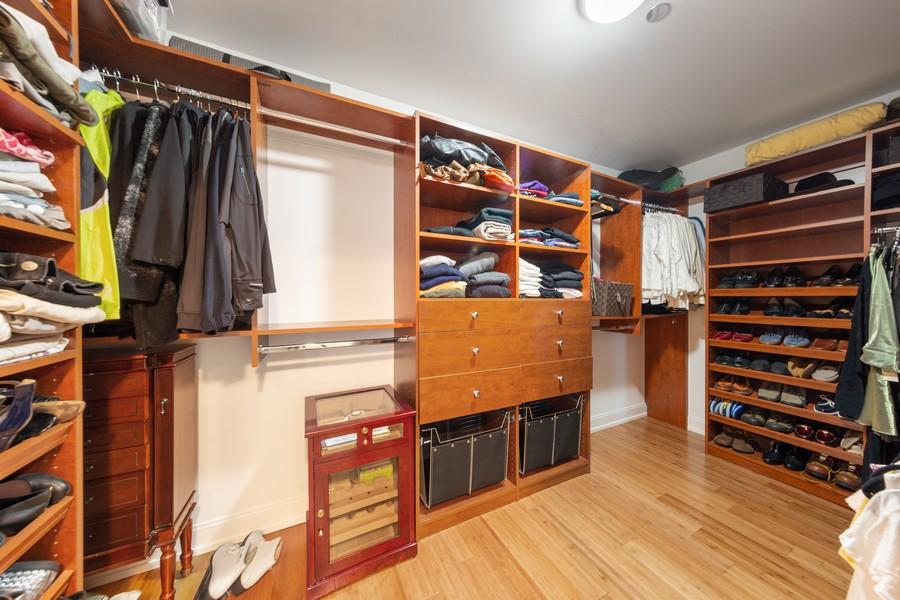 Real Estate Photography - 340 E Randolph St, Unit 2706, Chicago, IL, 60601 - Master Bedroom Closet