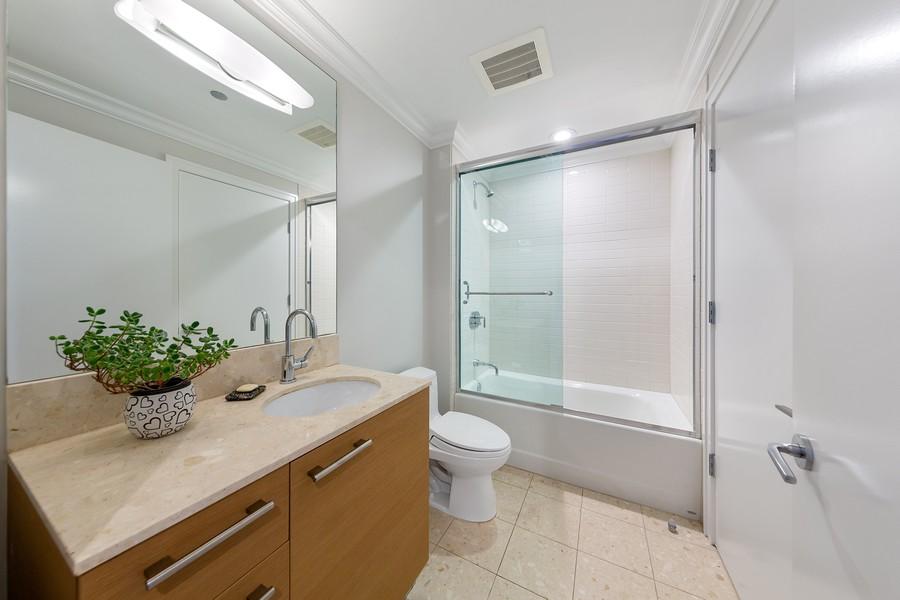 Real Estate Photography - 340 E Randolph St, Unit 2706, Chicago, IL, 60601 - 2nd Bathroom
