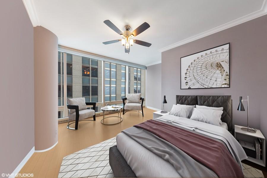 Real Estate Photography - 340 E Randolph St, Unit 2706, Chicago, IL, 60601 - 3rd Bedroom