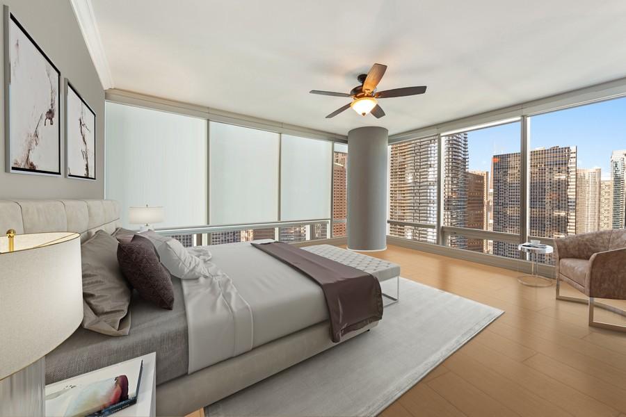 Real Estate Photography - 340 E Randolph St, Unit 2706, Chicago, IL, 60601 -