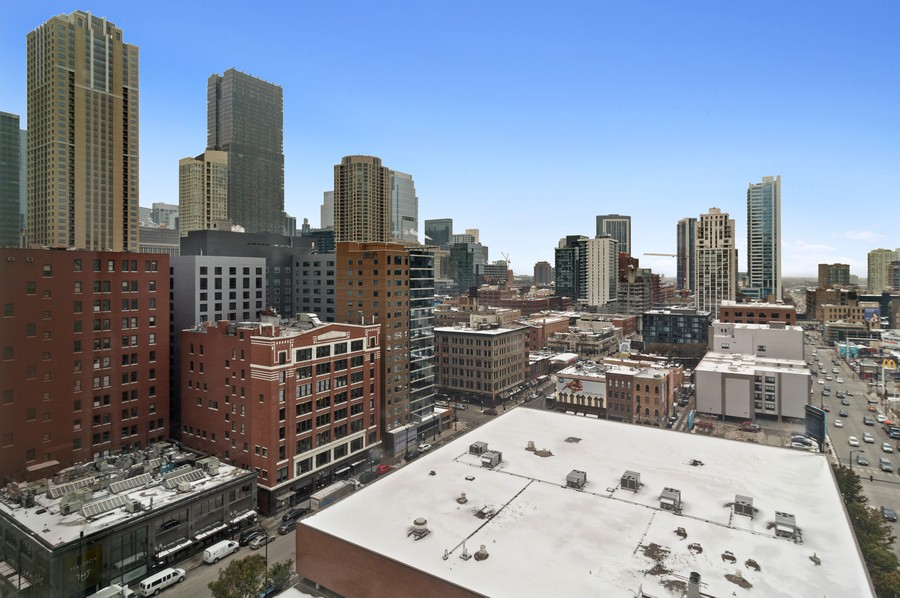 Real Estate Photography - 545 N Dearborn St, Apt 1501, Chicago, IL, 60654 - City View