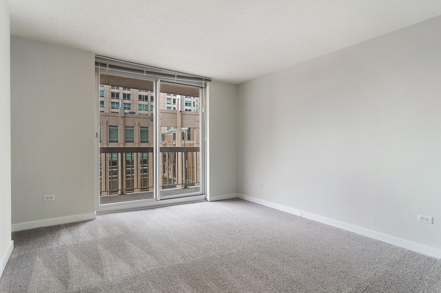 Real Estate Photography - 545 N Dearborn St, Apt 1501, Chicago, IL, 60654 - Master Bedroom