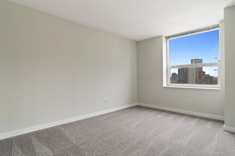 Real Estate Photography - 545 N Dearborn St, Apt 1501, Chicago, IL, 60654 - 2nd Bedroom
