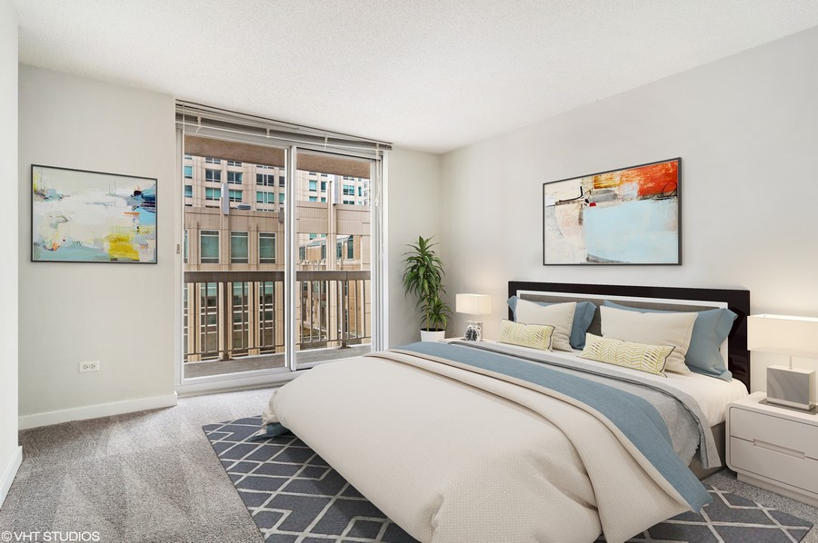 Real Estate Photography - 545 N Dearborn St, Apt 1501, Chicago, IL, 60654 -