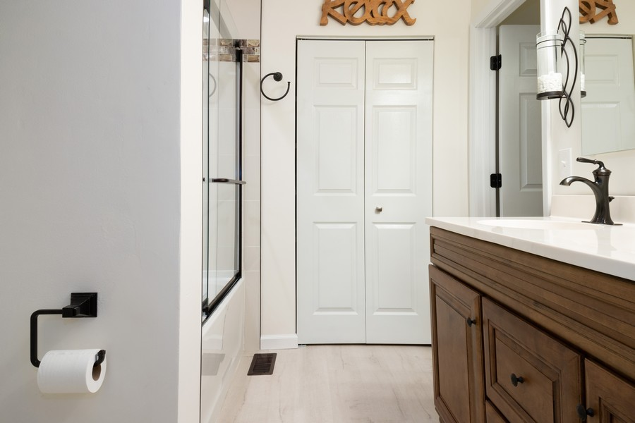 Real Estate Photography - 54 Pine Circle, Cary, IL, 60013 - Master Bathroom