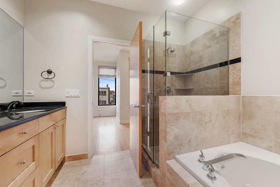 Real Estate Photography - 4003 N Wolcott Ave, Unit D, Chicago, IL, 60613 - Master Bathroom
