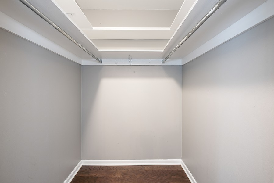 Real Estate Photography - 505 n. lake shore drive, 1802, chicago, IL, 60611 - Master Bedroom Closet