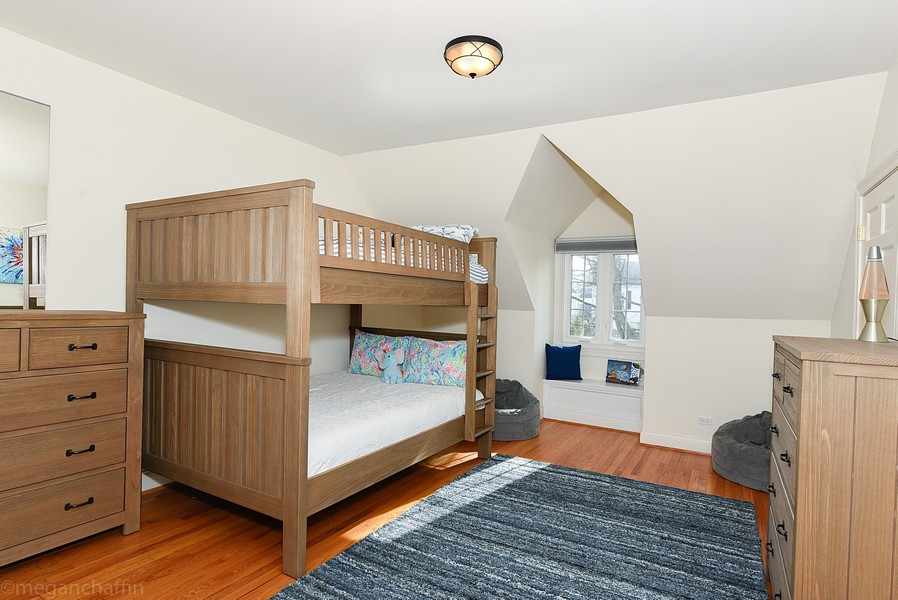 Real Estate Photography - 2126 Thornwood, Wilmette, IL, 60091 - Third bedroom with dormered window