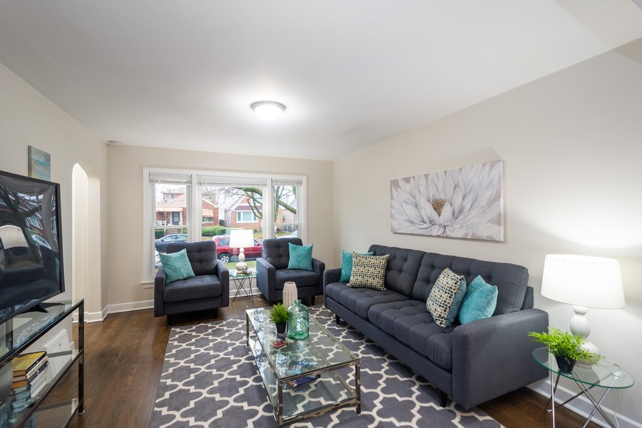 Real Estate Photography - 8044 S Fransisco, Chicago, IL, 60652 - Living Room