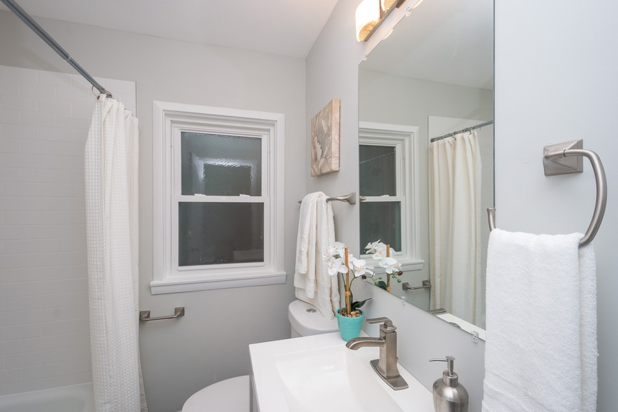 Real Estate Photography - 8044 S Fransisco, Chicago, IL, 60652 - Bathroom