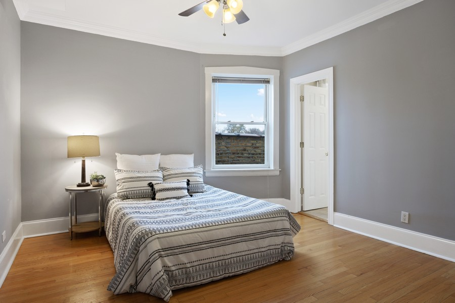 Real Estate Photography - 4922 N. Rockwell, Chicago, IL, 60625 - Master Bedroom