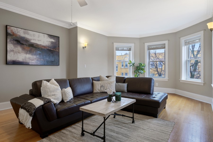 Real Estate Photography - 4922 N. Rockwell, Chicago, IL, 60625 - Living Room