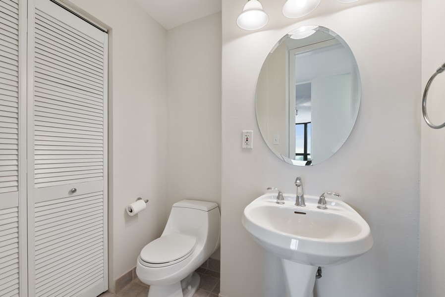 Real Estate Photography - 2650 N Lakeview Ave, Apt 1710, Chicago, IL, 60614 - Half Bath
