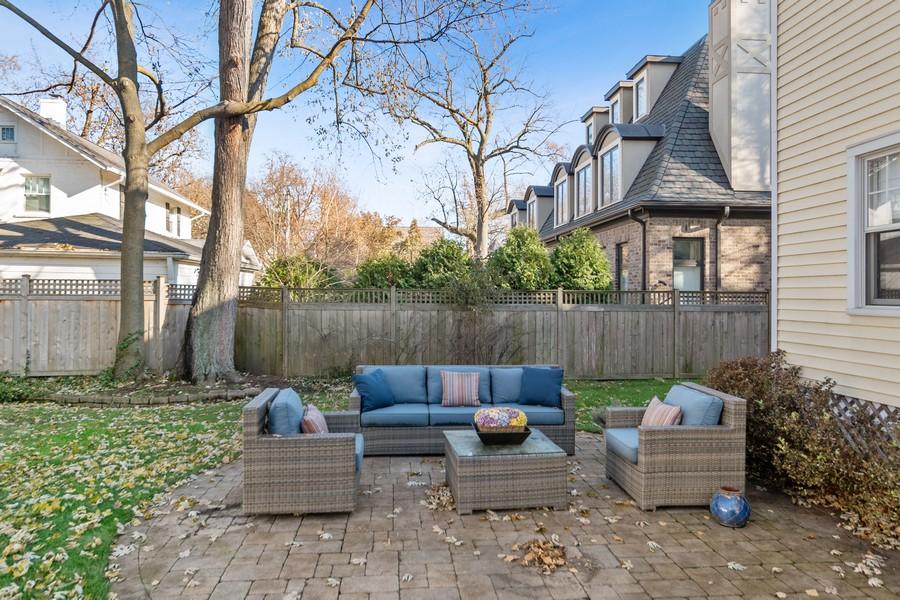 Real Estate Photography - 475 Orchard Lane, Winnetka, IL, 60093 - Back Yard