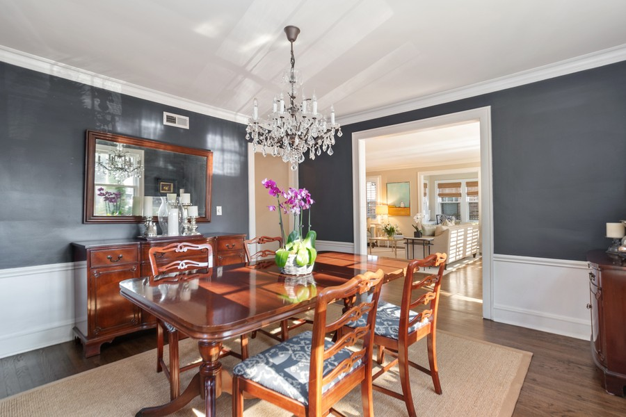 Real Estate Photography - 475 Orchard Lane, Winnetka, IL, 60093 - Dining Room