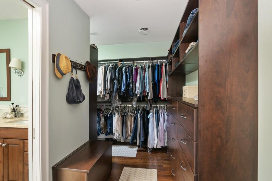 Real Estate Photography - 475 Orchard Lane, Winnetka, IL, 60093 - Master Walk In Closet