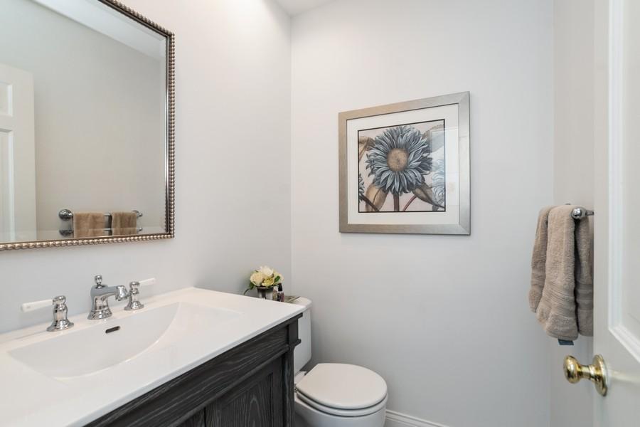 Real Estate Photography - 475 Orchard Lane, Winnetka, IL, 60093 - Powder Room