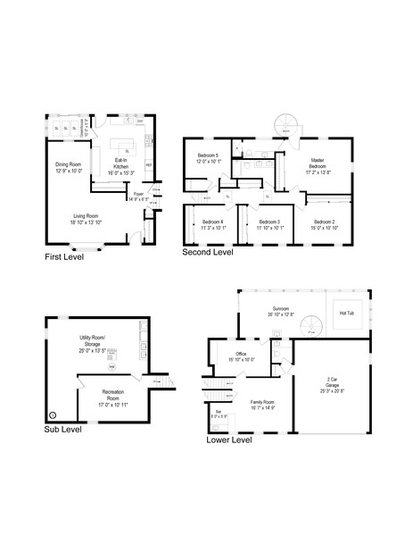Real Estate Photography - 1565 Almond, Downers Grove, IL, 60515 - Floor Plan