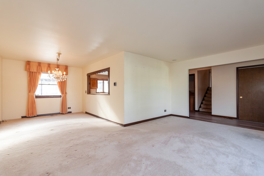 Real Estate Photography - 1565 Almond, Downers Grove, IL, 60515 - Living Room / Dining Room
