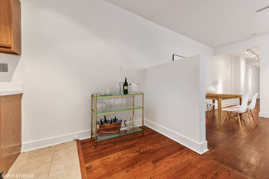 Real Estate Photography - 3723 N Pine Grove #3N, Chicago, IL, 60613 - Bar Area or Expansion Space for Kitchen